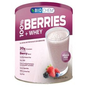 Biochem 100% Berries and Whey Powder, Berry, 1.39 lb