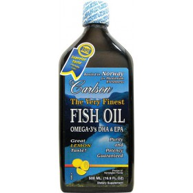 Carlson The Very Finest Fish Oil Liquid Omega-3 Lemon, 500ml