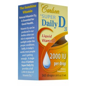 Carlson Laboratories Super Daily D3, 2000 IU, 11 ml