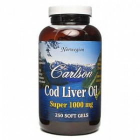 Carlson Labs Super Cod Liver Oil 1000 mg, 250 gels