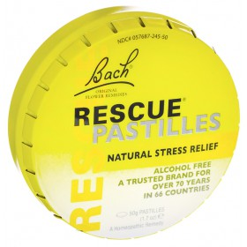 Bach Rescue Remedy Pastilles, Orange, 50 gm