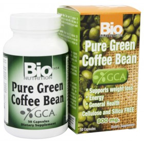 Bio Nutrition Pure Green Coffee Bean 800 mg, 50 Capsules