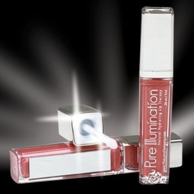 The Lano Company Lip Gloss Light Up Push Button, Shimmer, 0.3oz