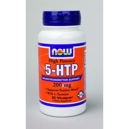 NOW Foods 5-HTP 200 mg,  60 Vcaps