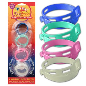 Bugband, Insect Repelling Wristband Family Pack, 4 Count