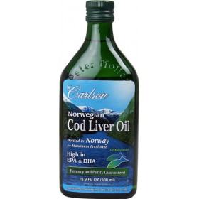 Carlson Norwegian Cod Liver Oil, 500ml