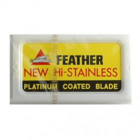 20 Feather Razor Blades Hi-stainless Double Edge