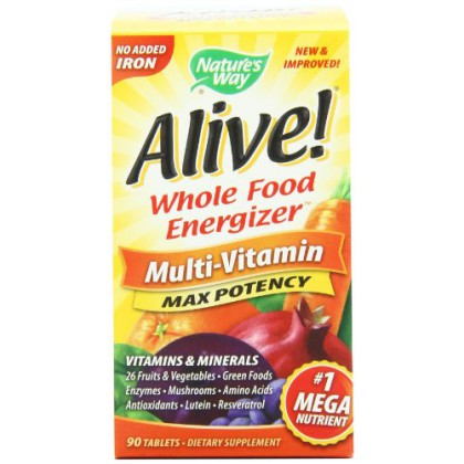 Alive Max Potency (No Iron Added) Multivitamin, 90 tablets