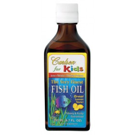 Carlson Laboratories Kids Very Finest Fish Oil Lemon, 200 ml