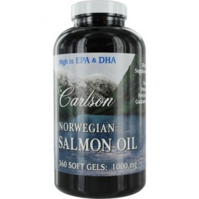 Carlson Labs Norwegian Salmon Oil, 1000 mg, 360 Softgels