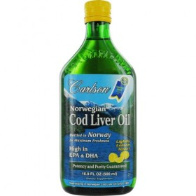 Carlson Norwegian Cod Liver Oil, Lemon, 500 ml