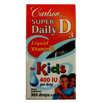 Carlson Super Daily D3 for Kids, 400 IU