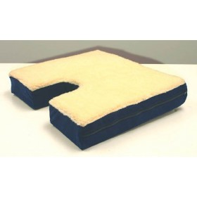 Coccyx Gel Seat Cushion With Fleece 16x18x3