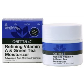 Derma-e Refining Vitamin A & Green Tea Moisturizer, 2 oz (Pack of 2)