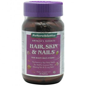 Futurebiotics Hair Skin and Nails Tablets, 75-Count