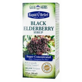 Gaia Herbs Black Elderberry Syrup, 3oz Bottle