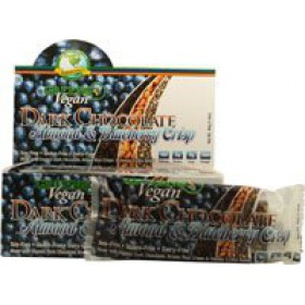 Greens+ Vegan Dark Chocolate, Almond & Blueberry crisp, 12 Bars/Box