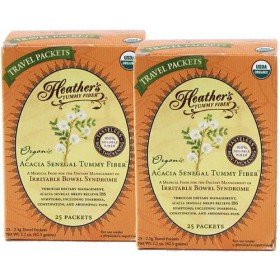 Heather's Tummy Fiber Organic Acacia Senegal Travel Packets 2-pack