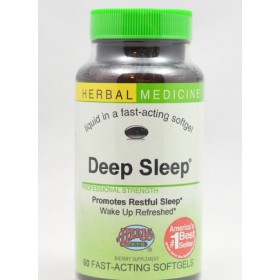 Herbs Etc Deep Sleep Alcohol Free 60 Softgels with California Poppy