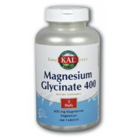 KAL Magnesium Glycinate, 400 mg, 180 tablets