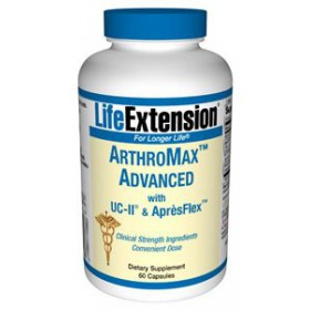 Life Extension Arthromax Advanced With UC-II and Apresflex Vegetarian Capsules, 60 Count