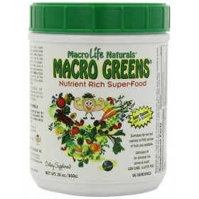 Macrolife Naturals Miracle Greens Canister, 30 oz, 90 Servings