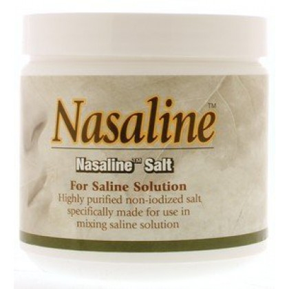 Nasaline Salt Jar 8 oz. for Neti Pot Nasal Wash, Over 3 months supply