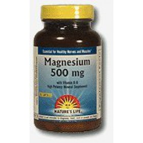 Nature's Life Magnesium Capsules, 500 Mg, 100 Count