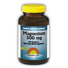 Nature's Life Magnesium Capsules, 500Mg, 250 Count