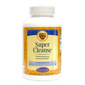 Nature's Secret Super Cleanse Herbal Supplement Tablets, 200-Count Bottles (Pack of 2)