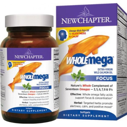 New Chapter Wholemega Focus, 60 Softgels