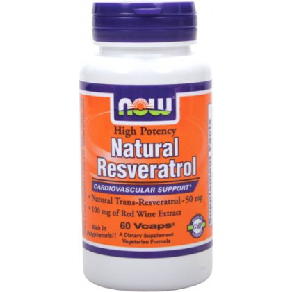 Now Foods Natural Resveratrol 200 mg, 60 VCaps