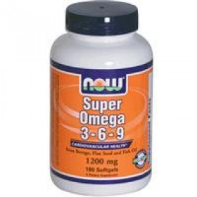 NOW Foods Super Omega 3-6-9, 1200 mg, 180 softgels