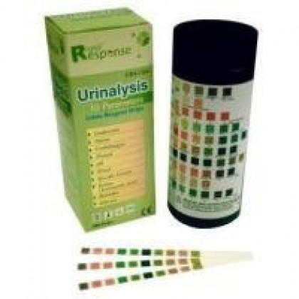 Rapid Response 10SG Urinalysis Test Strips, 100 Strips