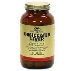 Solgar Desiccated Liver, 250 tablets