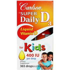 Carlson Labs Super Daily D3 for Kids, 400 IU