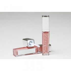The Lano Company Lip Gloss Light Up Push Button, Nude Beach, 0.3oz