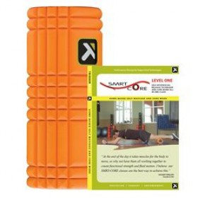Trigger Point Performance The Grid Revolutionary Foam Roller with SMRT-CORE Level 1 DVD (Orange)