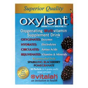 Vitalah Oxylent Sparkling Blackberry Pomegranate 6oz