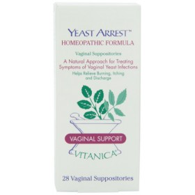 Vitanica Yeast Arrest , homeopathic Formula, 28 Vaginal Suppositories