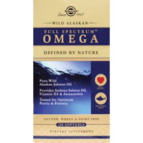 Solgar Wild Alaskan Full Spectrum Omega, 120 Softgels